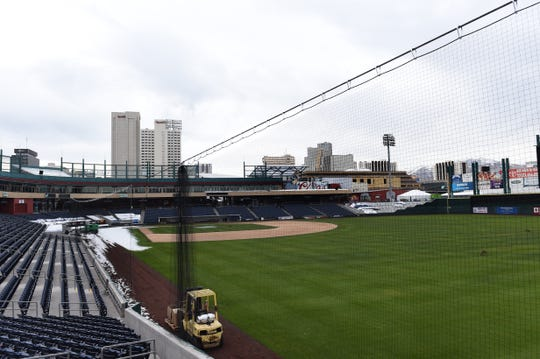 A new retractable protective netting has been installed at Greater Nevada Field to protect baseball fans from getting hit by a foul ball during Aces games.