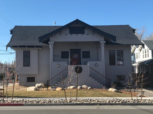 Renovations are complete at the historic Humphrey House that was moved in April 2019 from UNR's Gateway District to Arlington Avenue in Old Southwest Reno. The home, built in 1908, exemplifies the Asian Craftsman style.