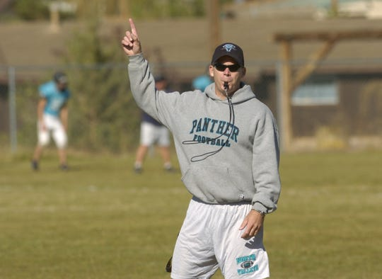 Jason Ehlen is shown during football practice at North Valleys High School in 2005.