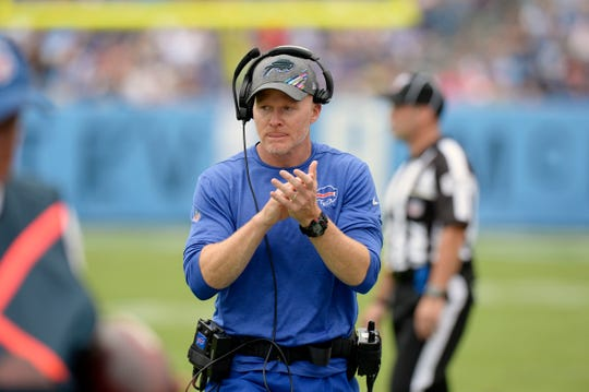 """Buffalo Bills head coach Sean McDermott called Buffalo Sabres coach Ralph Kruger a mentor. """"He's been in a lot of places and done a lot of things and accomplished a lot over the course of his career, so I try to stay in touch with him and encourage him,'' he said. """"I'm not sure I share much that he can use, but he's certainly shared some things that I've been able to use.''"""
