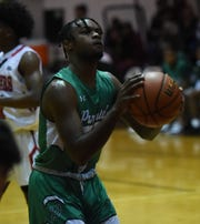 Parkside senior Marcus Yarns takes a foul shot on Tuesday, Dec. 17, 2019.