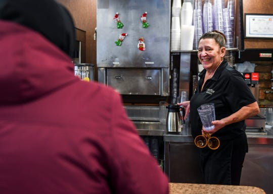 Waitress Cory Criner waits on customers on Wednesday, Dec. 18, 2019 at the Fryn' Pan in Sioux Falls.