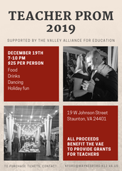 The second teacher prom will be held Thursday, Dec. 19.