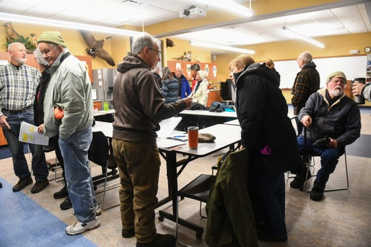 Organizer Dan Orr talks with volunteers before the start of the Christmas Bird Count Wednesday, Dec. 18, 2019, at the Sherburne National Wildlife Refuge.