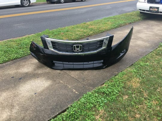 "To help crack the case, the Leon County Sheriff's Office posted this photo to Facebook with a note that read, ""Are you, or someone you know, missing a bumper from your Honda Accord this morning? If so, we'd like to chat with you... we'll even give you a ride."""