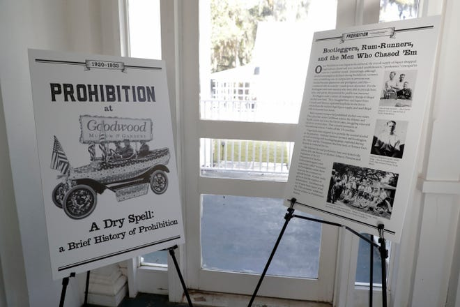 """""""A Dry Spell: A Brief History of Prohibition,"""" which chronicles the outlawing of the sale, manufacture and distribution of alcohol in Leon County, is currently on display at Goodwood Museum & Gardens in the main house."""