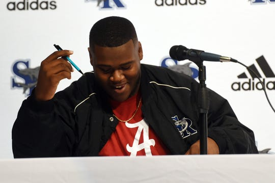 Sebastian River senior defensive tackle Tim Smith, the No. 1 player on the TCPalm Super 11, signed with Alabama on Dec. 18.