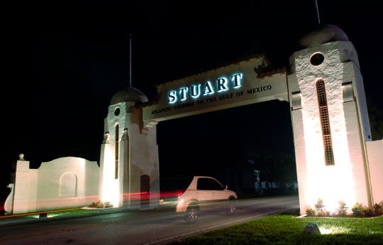The Stuart Welcome Arch along Dixie Highway in Jensen Beach has recently been renovated.