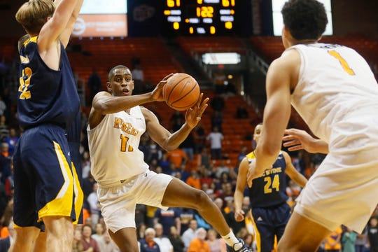 UTEP's Bryson Williams during the game against University of California Irvine Tuesday, Dec. 17, in the 58th Annual Weststar Bank Don Haskins Sun Bowl Invitational in El Paso.