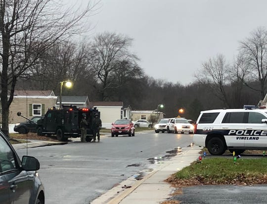 Cedar Crest Village Mobile Home Park was closed for several hours Dec. 17, 2019 during a standoff at a residence along Kaye Drive, Vineland