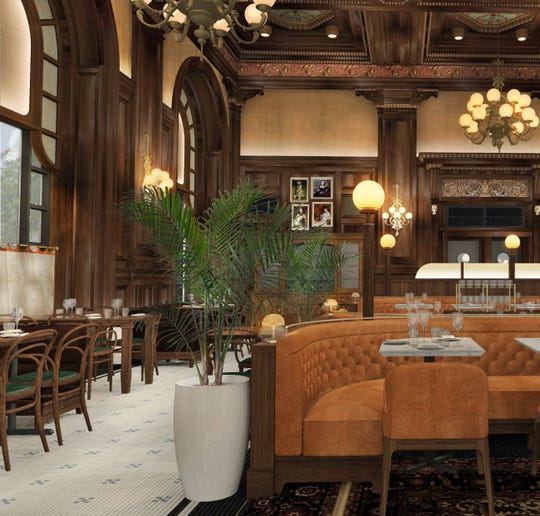 A rendering of the new look coming soon to the Hotel du Pont's Green Room, which, after more than a century, now has a new name.