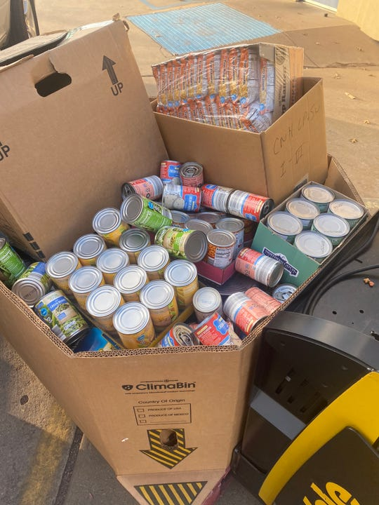Personnel from the 365th Training Squadron at Sheppard Air Force Base collected more than 3,000 pounds of canned goods and just over $700 for the Wichita Falls Area Food Bank.