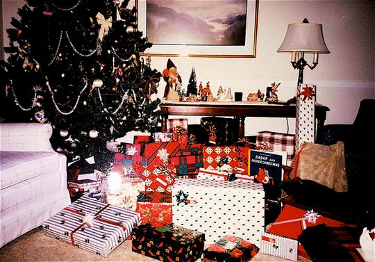 A tree with lots of presents means children and new memories to be made.