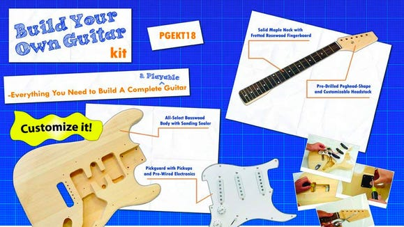 Best gifts for musicians: Pyle unfinished electric guitar kit