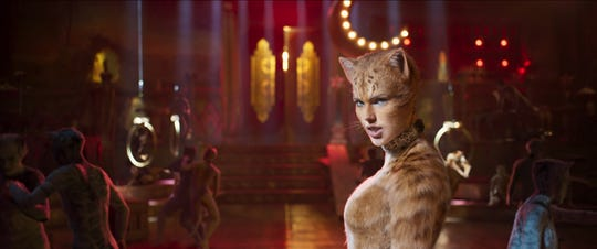 "Taylor Swift is bad kitty Bombalurina in ""Cats,"" directed by Tom Hooper."