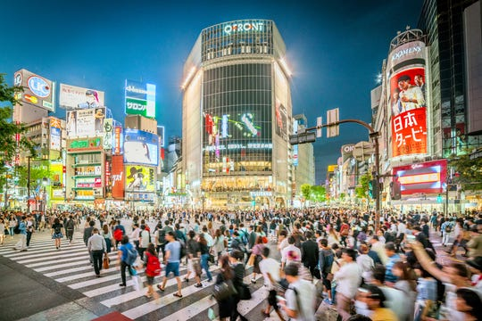 Japan has been buzzing with anticipation ahead of the 2020 Tokyo Olympics. If you're in Tokyo, visit busy sidewalk Shibuya Crossing (pictured), where approximately 3,000 people cross at once.
