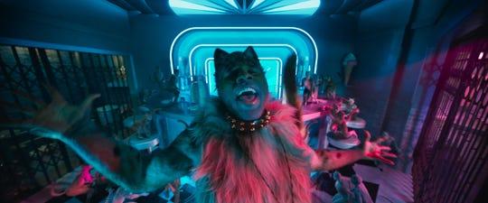 "Jason Derulo struts, preens and chews scenery as Rum Tum Tugger in ""Cats."""
