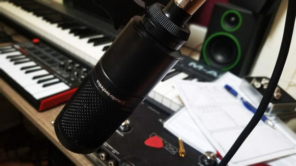 Best gifts for musicians: Audio-Technica AT-2020 cardioid microphone