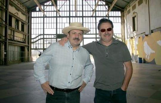 "Richard ""La Bamba"" Rosenberg (l) and Southside Johnny Lyon in Asbury Park, 2008."