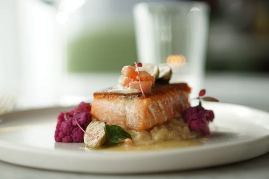 A salmon entree at The Gallery at Asbury Ocean Club in Asbury Park.