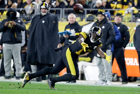 Pittsburgh Steelers wide receiver James Washington (13) plays during the second half against the Buffalo Bills in Pittsburgh, Sunday, Dec. 15, 2019.