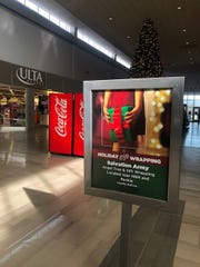 The Salvation Army did have signage up in the Asheville Mall this year directing folks to its Angel Tree and Gift Wrapping projects.