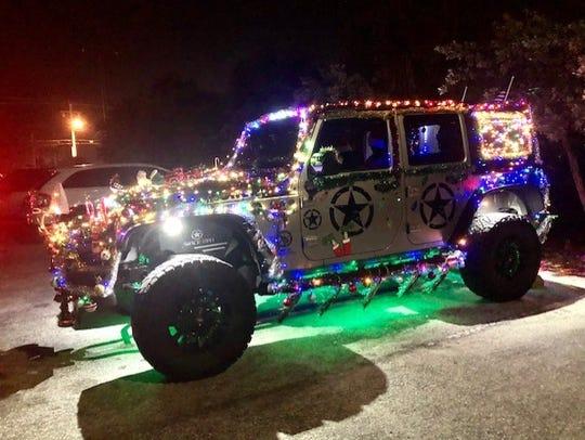 This decorated Jeep belongs to Satellite Beach's Ian Alfano.