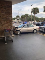 This vehicle crashed into the front of Winn-Dixie on Malabar Road in Palm Bay.