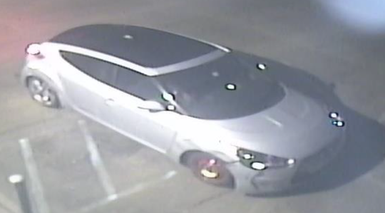 Rockledge police are trying to locate a newer model Hyundai Veloster with a front passenger-side spare tire and damage to the surrounding bumper.