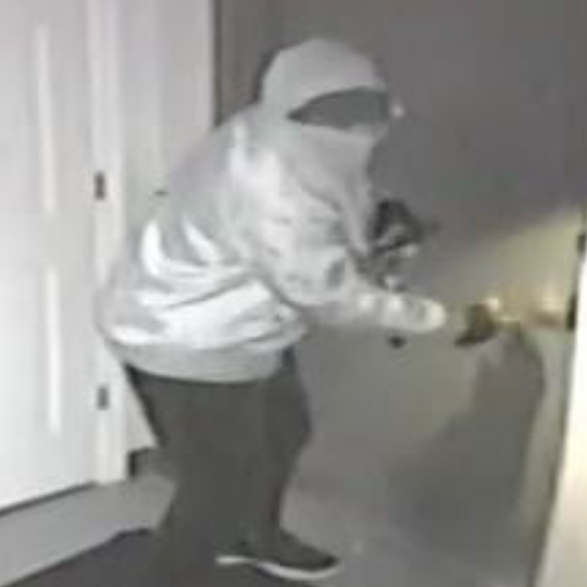 Rockledge police seek suspects from a Wednesday early-morning gun store burglary.