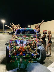 Ian Alfano's lighted-up Jeep was recently a hit for Hooters girls.
