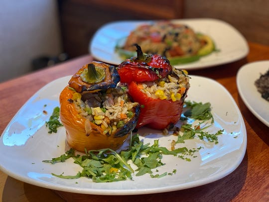 Stuffed peppers from the Prestige Diner.