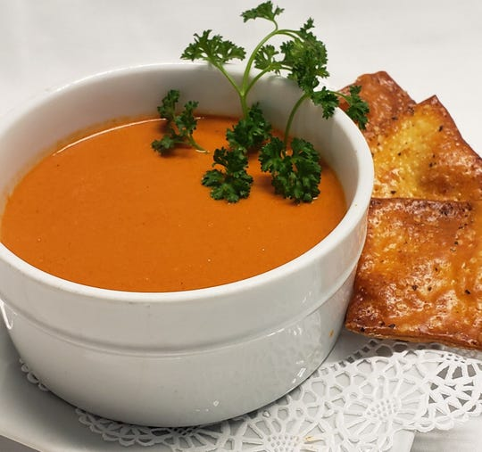 Smoked tomato bisque from Fiddleheads Restaurant, Jamesburg.