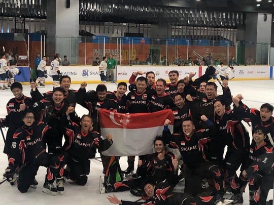 Singapore's National Ice Hockey Team at the South East Asia (SEA) Games 2019.