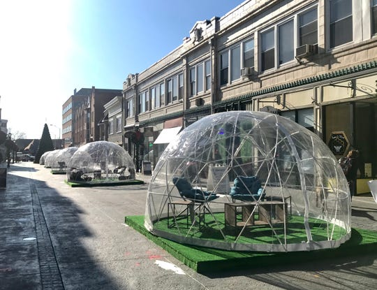 The Downtown Somerville Alliance has implemented five heated, food-serviced igloos for public seating and use to Division Street, one of the only pedestrian-only malls in NJ.