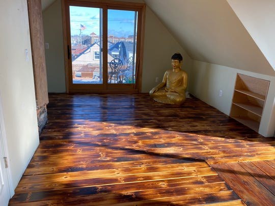 Detroit Zen Center's attic with direct access to the green roof is being renovated for weekend guests.