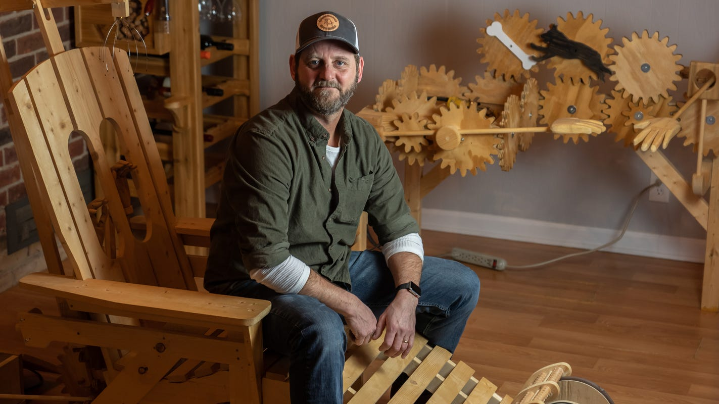 Metro Detroit woodworker strikes balance of 'ridiculous, clever, funny and kind of cool'
