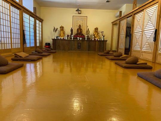 Detroit Zen Center's meditation room.