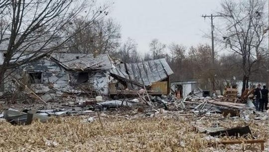 A house exploded north of Lowell on Monday, Dec. 16.