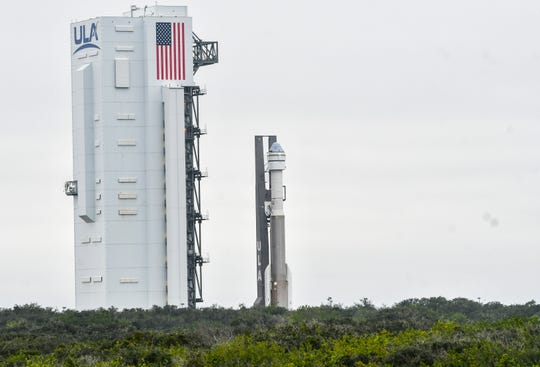 A United Launch Alliance Atlas V rocket rolls out to the pad at Cape Canaveral Air Force Station Wednesday, Dec. 18. 2019.