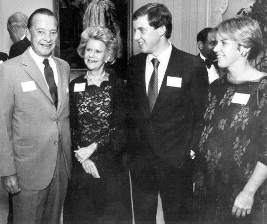 Ford family members, from left: William Clay Ford, Martha Firestone Ford, William Ford Jr., and Sheila Ford Hamp.