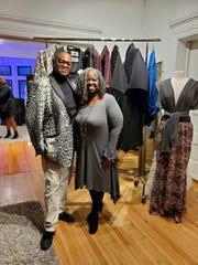 Fashion designer, Cedi Johnson, left, with Sabrina Jackson