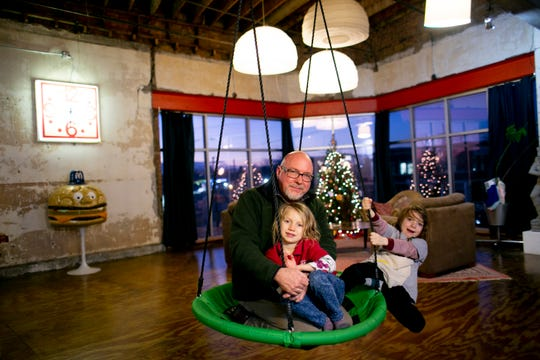 """Glenn Urquhart shares the home with his two children — Addilyn, 6, and Michael, 8. """"This is basically my first home,"""" said Urquhart. """"My kids, they get to see and experience all kinds of things."""""""