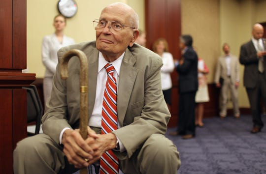 U.S. Rep. John Dingell attends a conference and rally to mark the 46th anniversary of the passage of Medicare in the U.S. Capitol Visitors Center in this July 27, 2011, file photo.