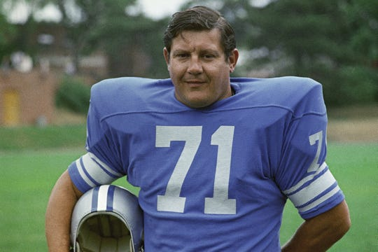 Alex Karras played for the Lions from 1958 to 1970, missing 1963 due to suspension for gambling.