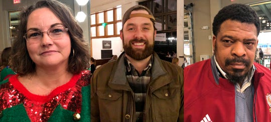 This combination of photographs shows from left, Aimee Brewer, Morgan O'Sullivan and Mark McQueen on Wednesday, Dec. 18, 2019.