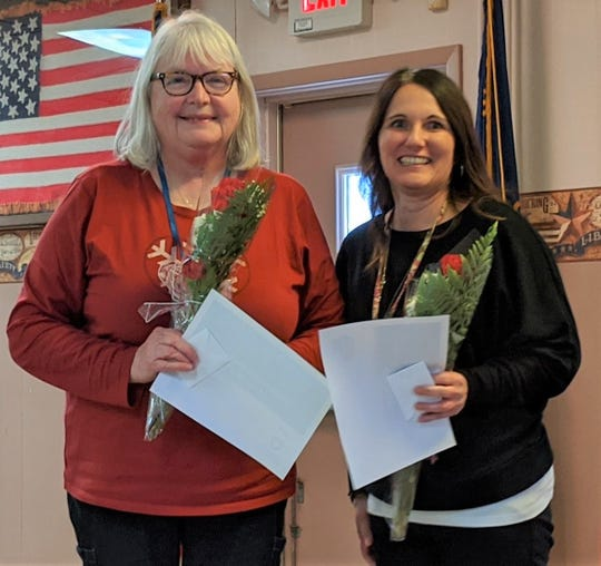 The Schuyler County Public Health and Yates County Public Health departments have honored Betty Brigham (left) and  Kristen Wagner as their 2019 Employees of the Year.