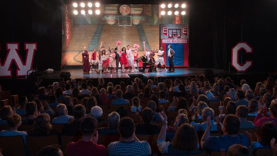 "Gibraltar High School's 2007 cast of ""High School Musical"" reunited at Door Community Auditorium for another live performance, which will appear on an episode of the Disney Plus series ""Encore!"" on Jan. 10."