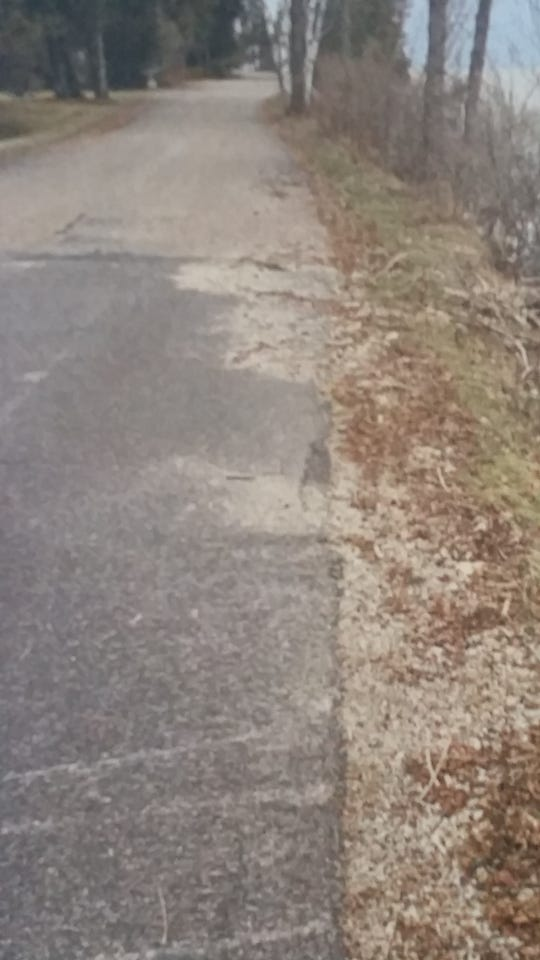 Clay Banks Town Chairman Myron Johnson said the water has been washing gravel onto the roadway while eroding the earth underneath the road surface.