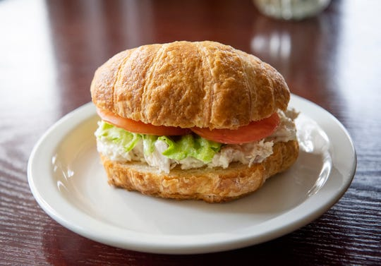 Lunch specials feature fresh-made croissant sandwiches